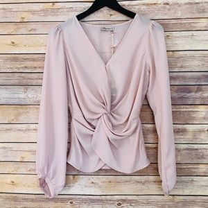 Alythea Long Sleeve Twist Front Top